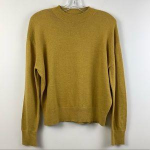 Twik for Simons Merino Wool Crew Neck Sweater in Golden Yellow